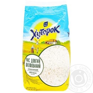 Рис довгий Хуторок 800г - купити, ціни на МегаМаркет - фото 1