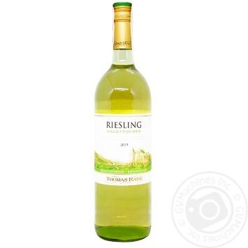 Вино Thomas Rath Рислинг белое полусухое 11% 1л - купить, цены на Метро - фото 1