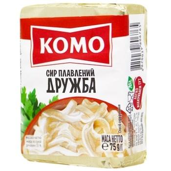 Сыр плавленый Комо Дружба 55% 75г - купить, цены на Таврия В - фото 1