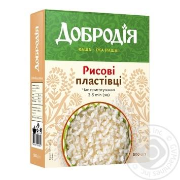 Хлопья рисовые Добродия 500г - купить, цены на Novus - фото 1
