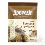 Каша Добродія гречана з грибами 40г