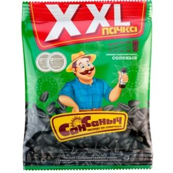 Семечки подсолнечника Сан Саныч жареные соленые 250г - купить, цены на Восторг - фото 1