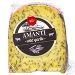Сыр Daily Dairy Amanti голландский сычужный зрелый с чесноком 50% 200г - купить, цены на Метро - фото 2