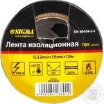 Ізоляційна стрічка Sigma черная 10м