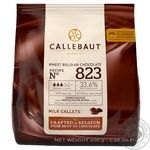 Шоколад Callebaut №823 бельгійський молочний у вигляді калет 33,6% 400г
