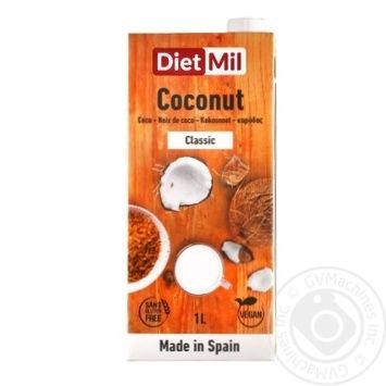 Молоко растительное из кокоса Diet mil Классическое 1л - купить, цены на Метро - фото 1