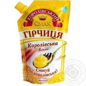 Korolivsky Smak Royal Strong Mustard 130g - buy, prices for Novus - image 3