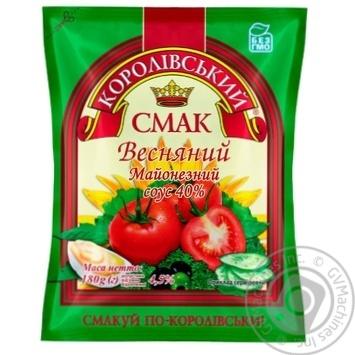 Соус майонезный Королівський смак Весенний 40% 380г