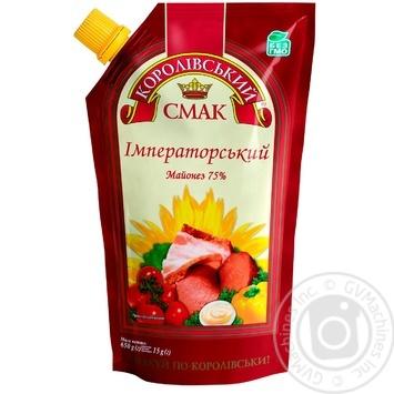 Mayonnaise Korolivsky smak Imperial 75% 700ml - buy, prices for Novus - image 1