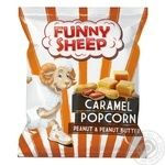 Funny Sheep Popped Corn Coated With Caramel With Peanuts And Peanut Butter 50g