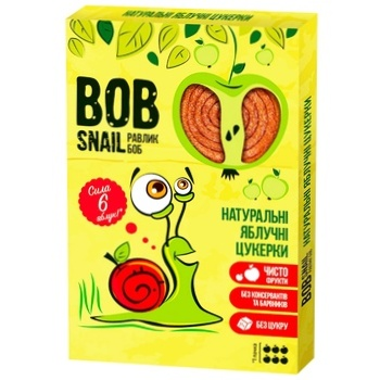 Bob Snail Natural Apple Candies 60g - buy, prices for CityMarket - photo 1