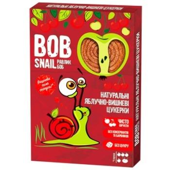 Конфеты Bob Snail натуральные яблочно-вишневые 60г - купить, цены на Восторг - фото 1
