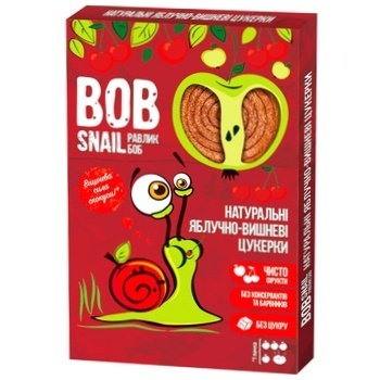 Bob Snail Natural Apple-cherry Candies 60g
