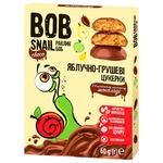 Цукерки Bob Snail яблучно-грушеві в молочному шоколаді 60г