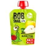 Пюре детское Snail Bob яблоко-груша 90г