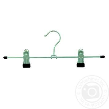 Плічики металеві Віленд для спiдниць, брюк з прищiпками 250мм - купити, ціни на Novus - фото 1
