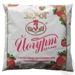 Йогурт Зарог клубника-земляника 2.8% 400г пленка Украина