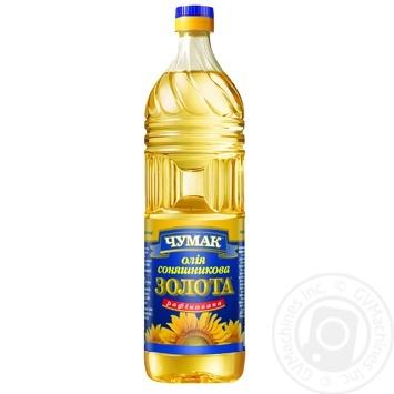 Олія Чумак Золота соняшникова рафінована 0,9л - купити, ціни на Метро - фото 1