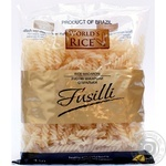 Pasta fusilli World's rice rice 450g sachet