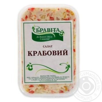 """Скидка на САЛАТ ТМ""""BRAVITA"""" """"КРАБОВИЙ"""" 300 Г"""