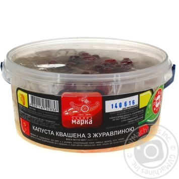 Salad cabbage Chudova marka cranberry pickled 400g bucket