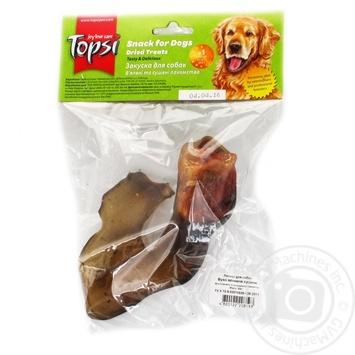 Ухо говяжье сушеное Topsi для собак 60г - купить, цены на Novus - фото 1