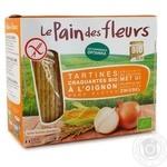 Хлебцы Le Pain des fleurs с луком органические безглютеновые 150г