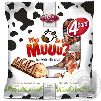 Батончик Who Said Muuu? з молочним смаком АВК 116г