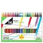 Фломастеры Auchan 24 цвета