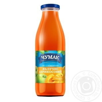 Сік Чумак 0,75л ябл-абрикосовий скляна пляшка