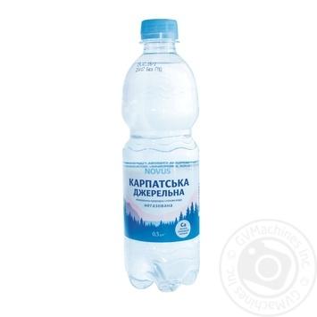 Вода мінеральна негазована Карпатська джерельна Novus 0,5л