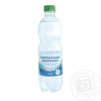 Novus Karpats'ka Dzherel'na Slightly Carbonated Mineral Water 0,5l - buy, prices for Novus - photo 1