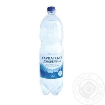 Вода Novus Карпатська джерельна сильногазированная минеральная 1,5л