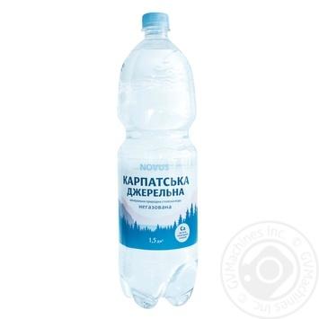 Вода минеральная Novus Карпатская родниковая негазована 1,5л - купить, цены на Novus - фото 1