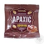 Арахіс смажений солоний зі смаком бекону Novus  35г