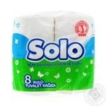 Папiр туалетний Solo Ультра 8шт