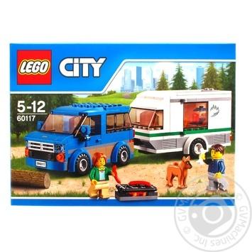 Скидка на Конструктор LEGO City Great Vehicles Фургон и дом на колёсах 60117