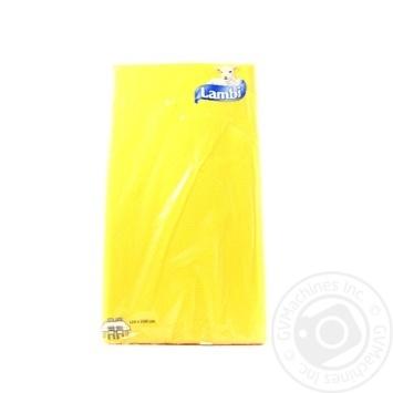 Скатертина ламінована Lambi 120*200 жовта