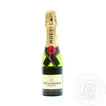 Шампанское Moet & Chandon Brut Imperial белое сухое 12% 0.2л - купить, цены на Novus - фото 1
