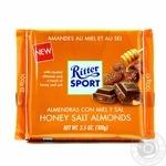 Шоколад Ritter Sport молочний з солоним мигдалем та медом  100г
