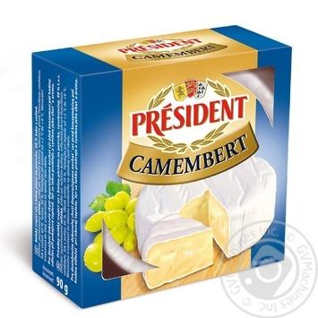 Сир President камамбер 90г - купити, ціни на Метро - фото 1