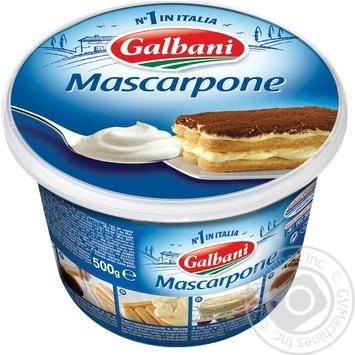 Сыр Гальбани маскарпоне мягкий 80% 500г - купить, цены на МегаМаркет - фото 1