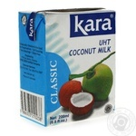 Milk Kara Classic coconut uht 17% 200ml tetra pak Indonesia
