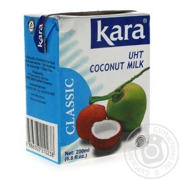 Молоко кокоcове натуральне пастеризоване Kara 17%