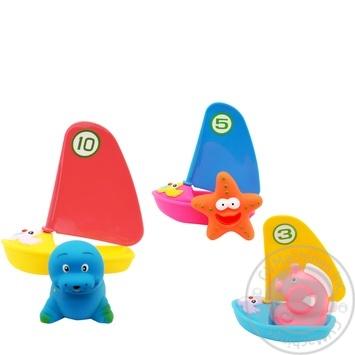 Набор игрушек Baby Team для ванной Веселый серфер 9007 - купить, цены на Фуршет - фото 3