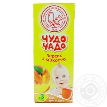Скидка на Сок Чудо-Чадо персиковый с мякотью и витамином С с 3-ех месяцев 200мл пэт Украина