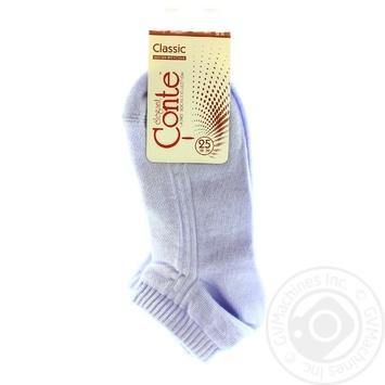 Conte Classic Cotton Pale Purple Women's Socks 25s
