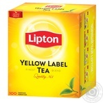 Tea Lipton Yellow label black 100pcs 200g