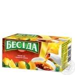 Бесіда Черный чай в пакетиках С ароматом лимона 26шт