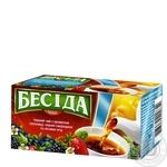 Бесіда Черный чай в пакетиках с ароматом клубники черной смородины и лесных ягод 26шт
